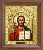Спаситель. Икона в деревянной рамке с окладом (Д-25псо-19)