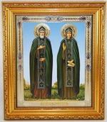 Петр и Феврония, Икона в багетной рамке 14 Х 16