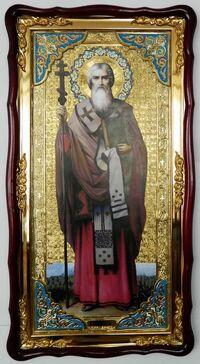 Мефодий (рост), в фигурном киоте, с багетом. Большая Храмовая икона (61 х 112)
