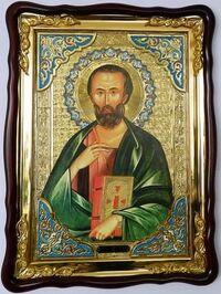 Марк Св. муч., в фигурном киоте, с багетом. Храмовая икона (60 Х 80)