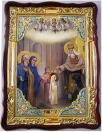 Введение во Храм Пресвятой Богородицы, в фигурном киоте, с багетом. Храмовая икона (60 Х 80)