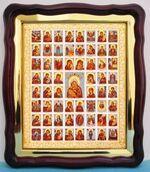 Собор Богородицы, в фигурном киоте, с багетом. Храмовая икона (43 Х 50)