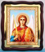 Арх. Михаил (пояс), в фигурном киоте, с багетом. Большая аналойная икона (28 Х 32)