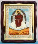 Спорительница хлебов Б.М., в фигурном киоте, с багетом. Храмовая икона (43 Х 50)