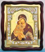 Донская Б.М., в фигурном киоте, с багетом. Храмовая икона (43 Х 50)