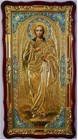 Арх. Гавриил (рост), в фигурном киоте, ризе, с багетом. Большая Храмовая икона (61 х 112)