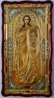 Арх. Михаил (рост), в фигурном киоте, ризе, с багетом. Большая Храмовая икона (61 х 112)