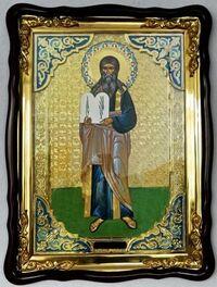 Моисей Св. муч., в фигурном киоте, с багетом. Храмовая икона (60 Х 80)