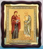 Иоаким и Анна, в фигурном киоте, с багетом. Храмовая икона (43 Х 50)