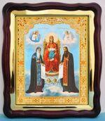 Киево - Печерская Б.М., в фигурном киоте, с багетом. Храмовая икона (43 Х 50)