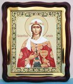 Варвара, Св. Муч., в фигурном киоте, с багетом. Храмовая икона (43 Х 50)