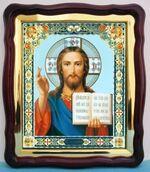 Спаситель (22), в фигурном киоте, с багетом. Храмовая икона (43 Х 50)