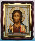 Спаситель (21), в фигурном киоте, с багетом. Храмовая икона (43 Х 50)