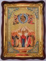 Вознесение Христово (2), в фигурном киоте, с багетом. Храмовая икона (60 Х 80)