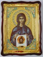 Вероника, Св.муч., (пояс), в фигурном киоте, с багетом. Храмовая икона (60 Х 80)