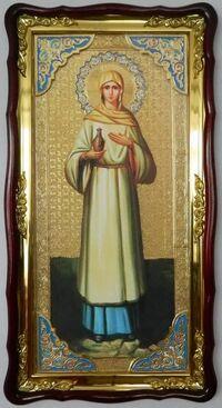 Мария Магдалина (рост), в фигурном киоте, с багетом. Большая Храмовая икона (61 х 112)