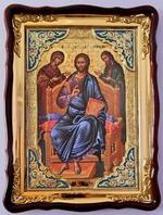 Царь Славы (2), в фигурном киоте, с багетом. Храмовая икона (82 Х 114)