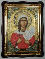 Ника, Св.муч., в фигурном киоте, с багетом. Храмовая икона (60 Х 80)