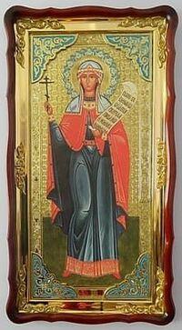 Параскева, Св. муч. (рост), в фигурном киоте, с багетом. Большая Храмовая икона (61 х 112)