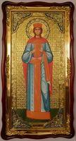 Екатерина, Св. муч., (рост), в фигурном киоте, с багетом. Большая Храмовая икона (61 х 112)