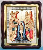 Православные праздники. Комплект из 13 Храмовых икон, в фигурном киоте, с багетом (43 Х 50)
