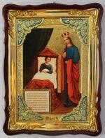Целительница Б.М., в фигурном киоте, с багетом. Большая Храмовая икона (82 х 114)