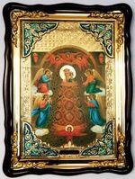 Прибавление ума Б.М., в фигурном киоте, с багетом. Храмовая икона (82 Х 114)