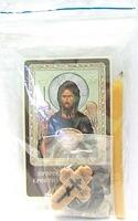 Креститель Иоанн Предтеча. Набор для домашней молитвы (Zip-Lock). Лик, молитва, свечка, ладан, крестик