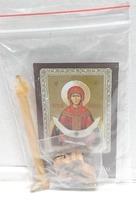 Покров Б.М.  Набор для домашней молитвы (Zip-Lock). Лик, молитва, свечка, ладан, крестик