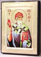 Спиридон Тримифунтский, икона Греческая, 17 Х 23