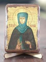 Евгения, Св.Муч., икона под старину, сургуч (8 Х 10)