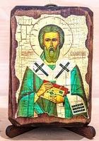 Валентин, Епископ Интерамский, икона под старину, сургуч (8 Х 10)