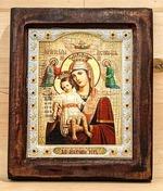 Достойно есть Б.М., Икона Византикос, полуоклад, 12Х14