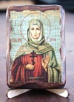 София, Св. Мч., икона под старину, сургуч (8 Х 10)