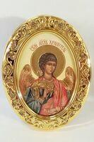 Ангел Хранитель. Икона настольная малая, овал.