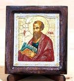 Апостол Павел, Икона Византикос, полуоклад, 8Х6