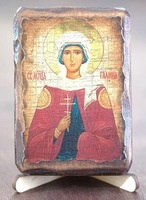 Галина, Св.Мч., икона под старину, сургуч (8 Х 10)