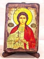 Любовь, Св.Мч., икона под старину, сургуч (8 Х 10)