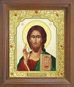 Спаситель. Икона в деревянной рамке с окладом (Д-25псо-21)