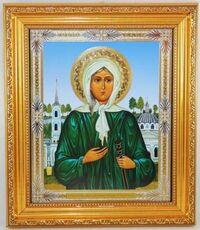 Ксения Петербургская (пояс). Икона в багетной рамке 19 х 22