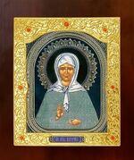 Матрона Московская. Икона в окладе средняя (Д-21-38)