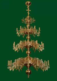 Паникадило (№ 21), 3-ярусное (36 свечей)