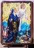 Давид Гареджийский, икона под старину, сургуч (17 Х 23)