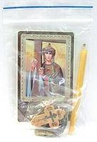 Елена. Святая равноапостольная царица. Набор для домашней молитвы (Zip-Lock). Лик, молитва, свечка, ладан, крестик