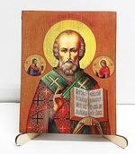 Николай Чудотворец, икона под старину, (16 Х 20)