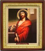 Спаситель в терновом венце,икона в деревянной рамке (Д-18пс-23)
