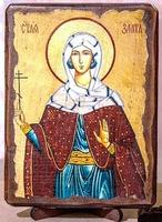 Злата Могленская, Св.Муч, икона под старину, сургуч (13 Х 17)