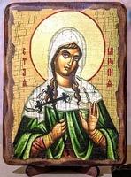 Миропия Хиосская, Св.Муч., икона под старину, сургуч (13 Х 17)
