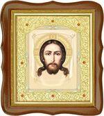 Спас Нерукотворный, средняя аналойная икона, фигурный киот (Д-20фс-24)
