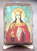 Варвара, Св.Муч., икона под старину, сургуч (8 Х 10)